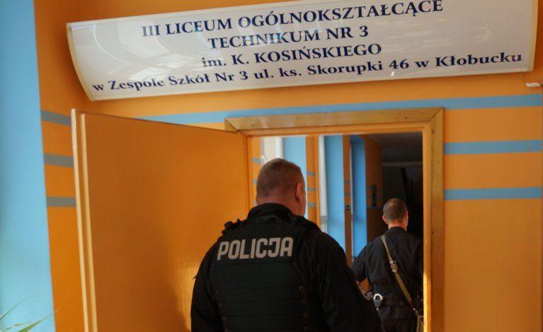 Bomba w kłobuckiej szkole