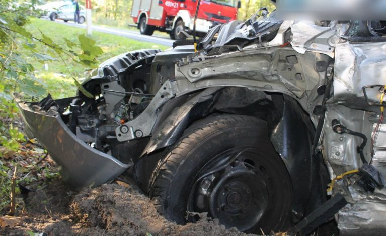 Tragiczny wypadek w powiecie kłobuckim. Nie żyje motocyklista