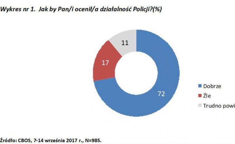 Polacy dobrze oceniają pracę policji