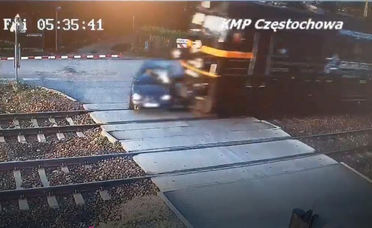 Ominął szlaban. Policja publikuje nagranie – ku przestrodze
