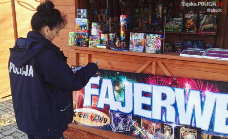 Dzielnicowi z Kłobucka kontrolowali sprzedaż fajerwerków