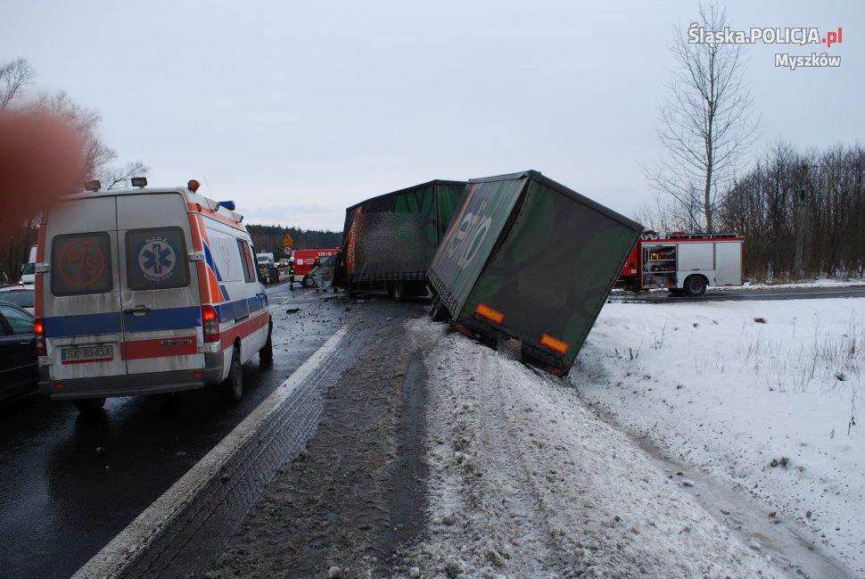 Zderzenie ciężarówek