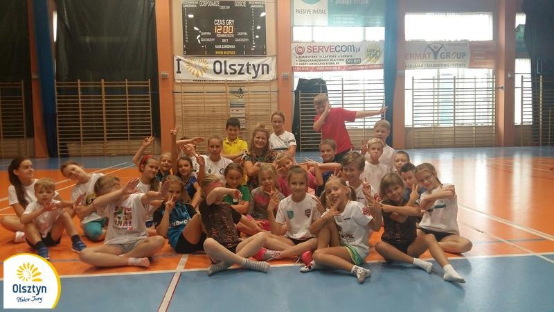 Zgrupowanie najmłodszych badmintonistów