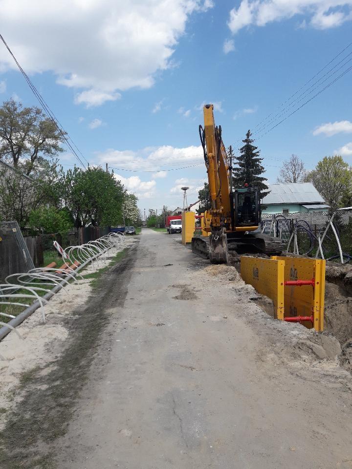Budowa kanalizacji w toku
