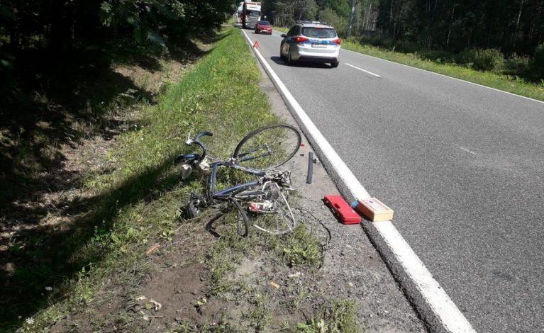 Kolejny wypadek z udziałem rowerzysty