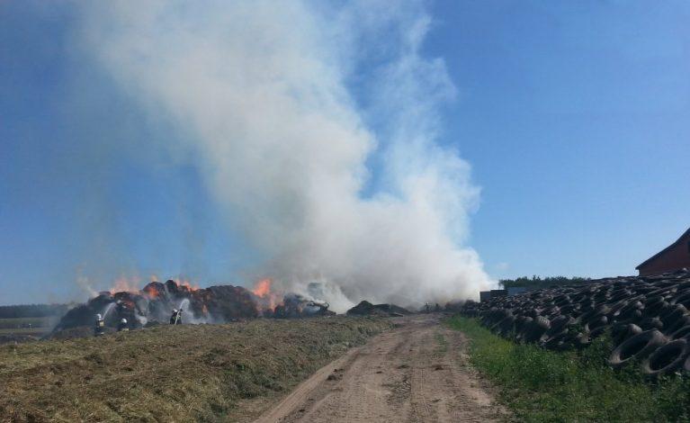 Ogromny pożar w Skrzydłowicach
