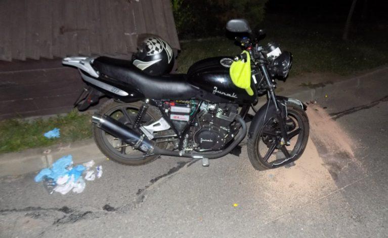 Pijany motocyklista wymusił pierwszeństwo