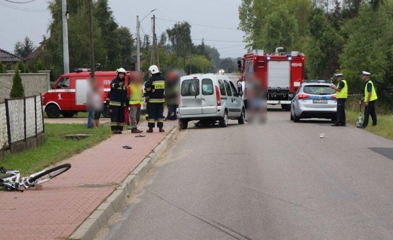 Pijany kierowca potrącił nastoletnich rowerzystów