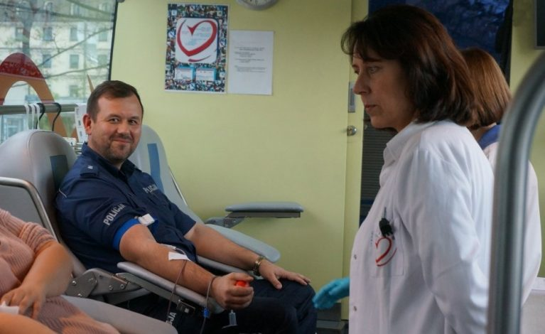 Zbierali krew dla ofiar wypadków