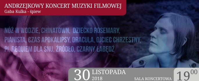 Andrzejkowy koncert muzyki filmowej