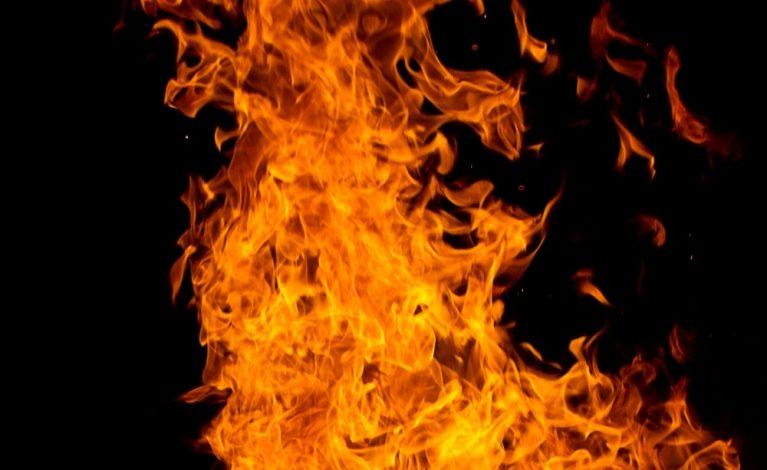 Rozpalił ognisko w pustostanie