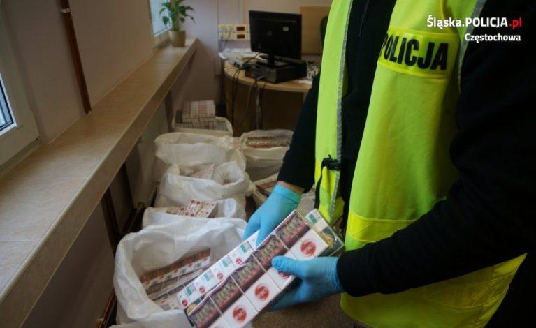 Częstochowscy śledczy przechwycili 94 tys. papierosów i ponad 3 kg tytoniu bez akcyzy