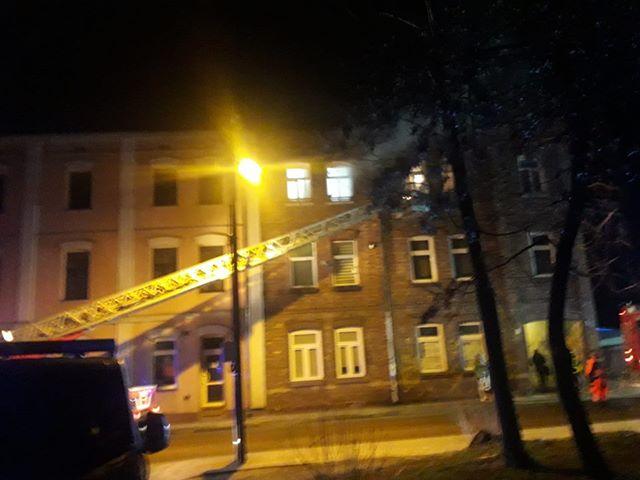 Pożar w kamienicy przy ul.Równoległej