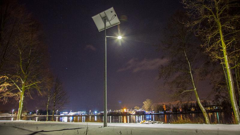 Oświetlenie wokół zalewu