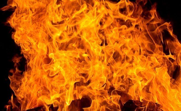 Płonęło wysypisko w Koniecpolu