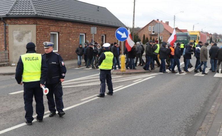 Protest kłobuckich rolników