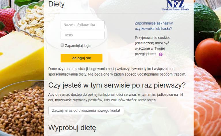Platforma z darmowymi dietami