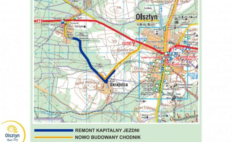 Nowa droga w gminie Olsztyn