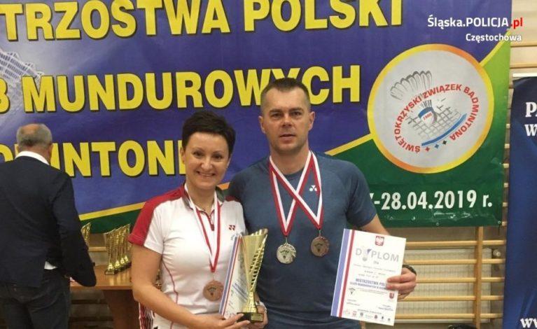 VII Mistrzostwa Polski Służb Mundurowych w badmintonie – zawodniczka z Częstochowy z brązowym medalem