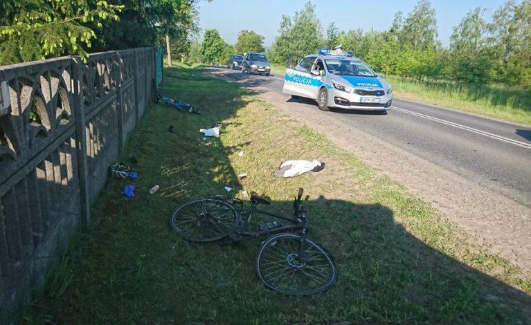 Potrącił dwóch rowerzystów