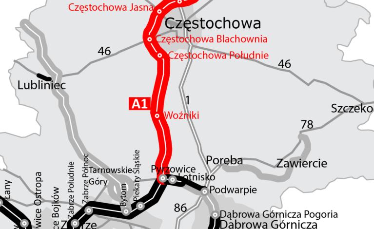 Więcej pieniędzy na autostradę A1 pod Częstochową