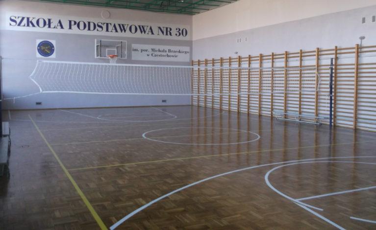 Odnowione sale gimnastyczne