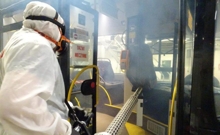 Dodatkowa dezynfekcja autobusów i tramwajów