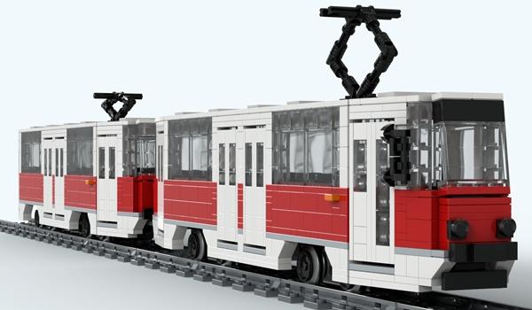 Pasjonat tramwajów i… klocków lego