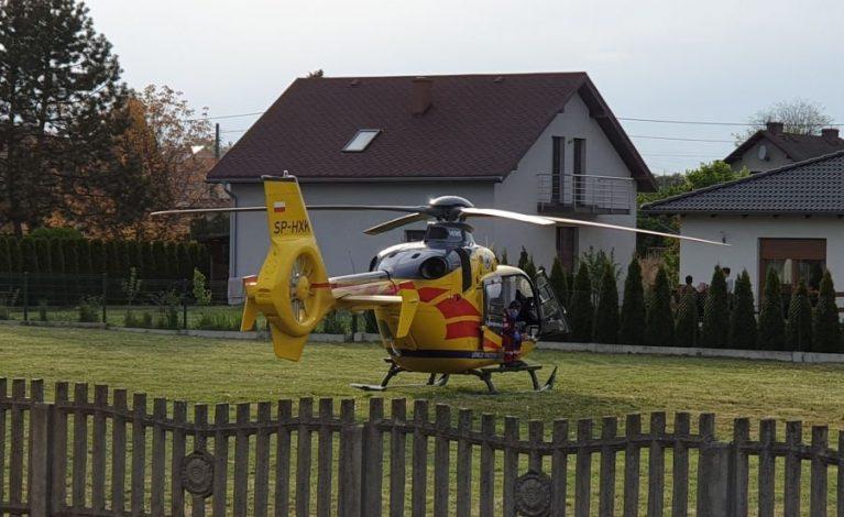 Wypadek w Lublińcu. Motorowerzysta w ciężkim stanie trafił do szpitala