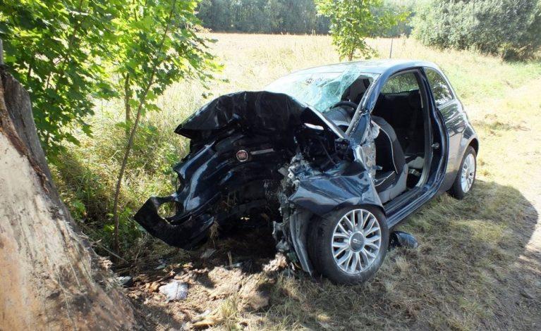 Stracił panowanie nad pojazdem i uderzył w drzewo