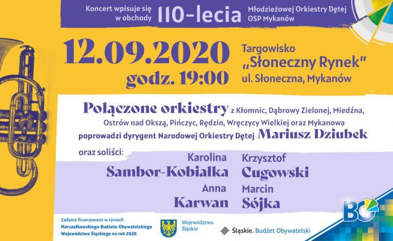 """Koncert setki """"dęciaków"""" z gwiazdami polskiej estrady w Mykanowie"""