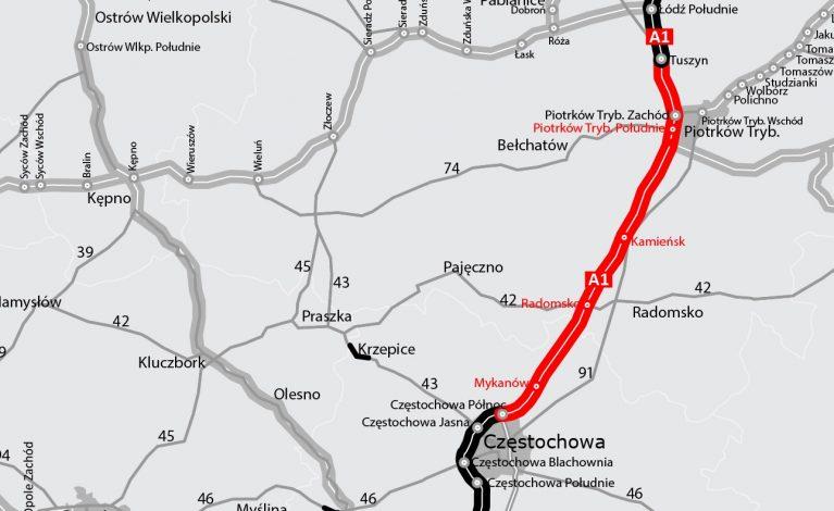 Autostrada A1 w całości przejezdna?