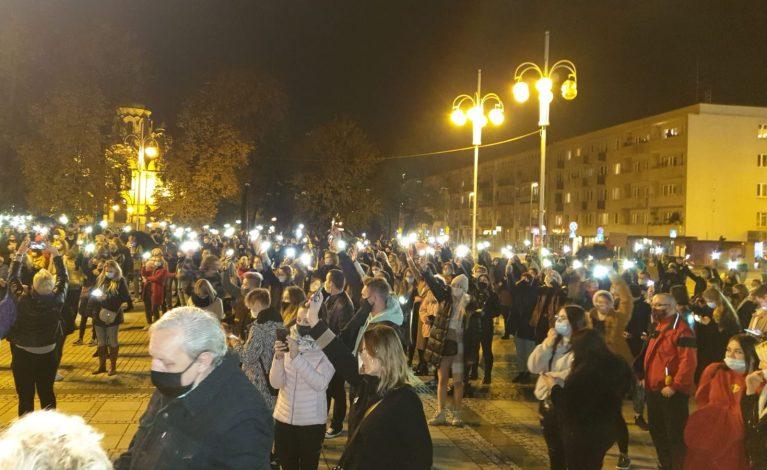 Zakaz aborcji: protest w Częstochowie