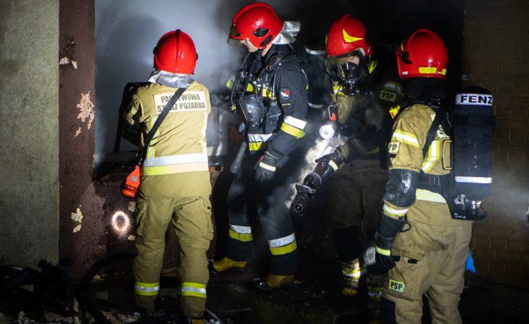 Pożar domu jednorodzinnego w miejscowości Hutki