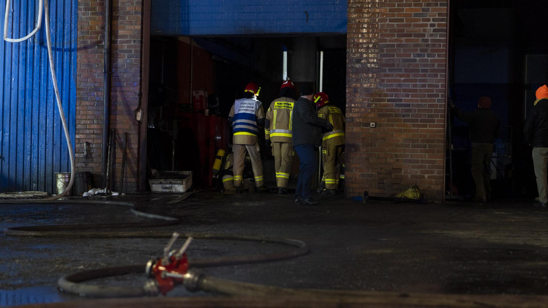Pożar hali w Boronowie