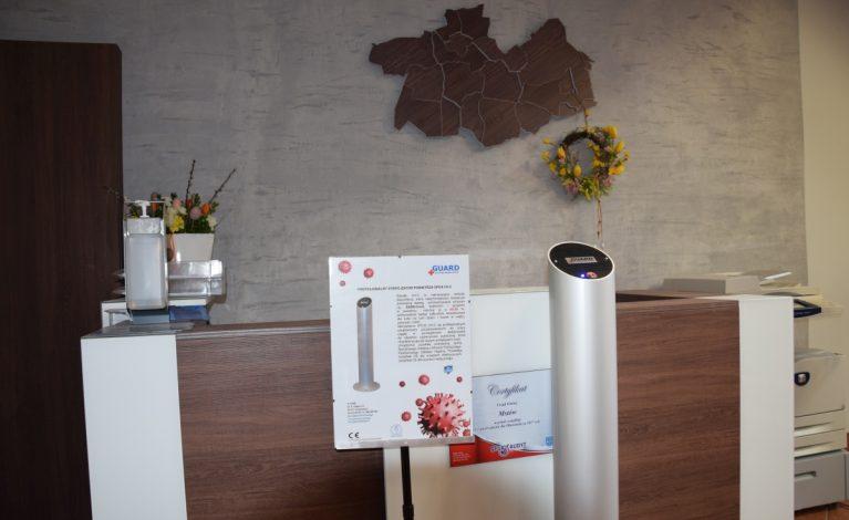 Sterylizator powietrza w mstowskim urzędzie