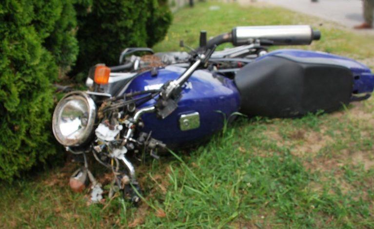 Nie ustąpiła pierwszeństwa motocykliście…