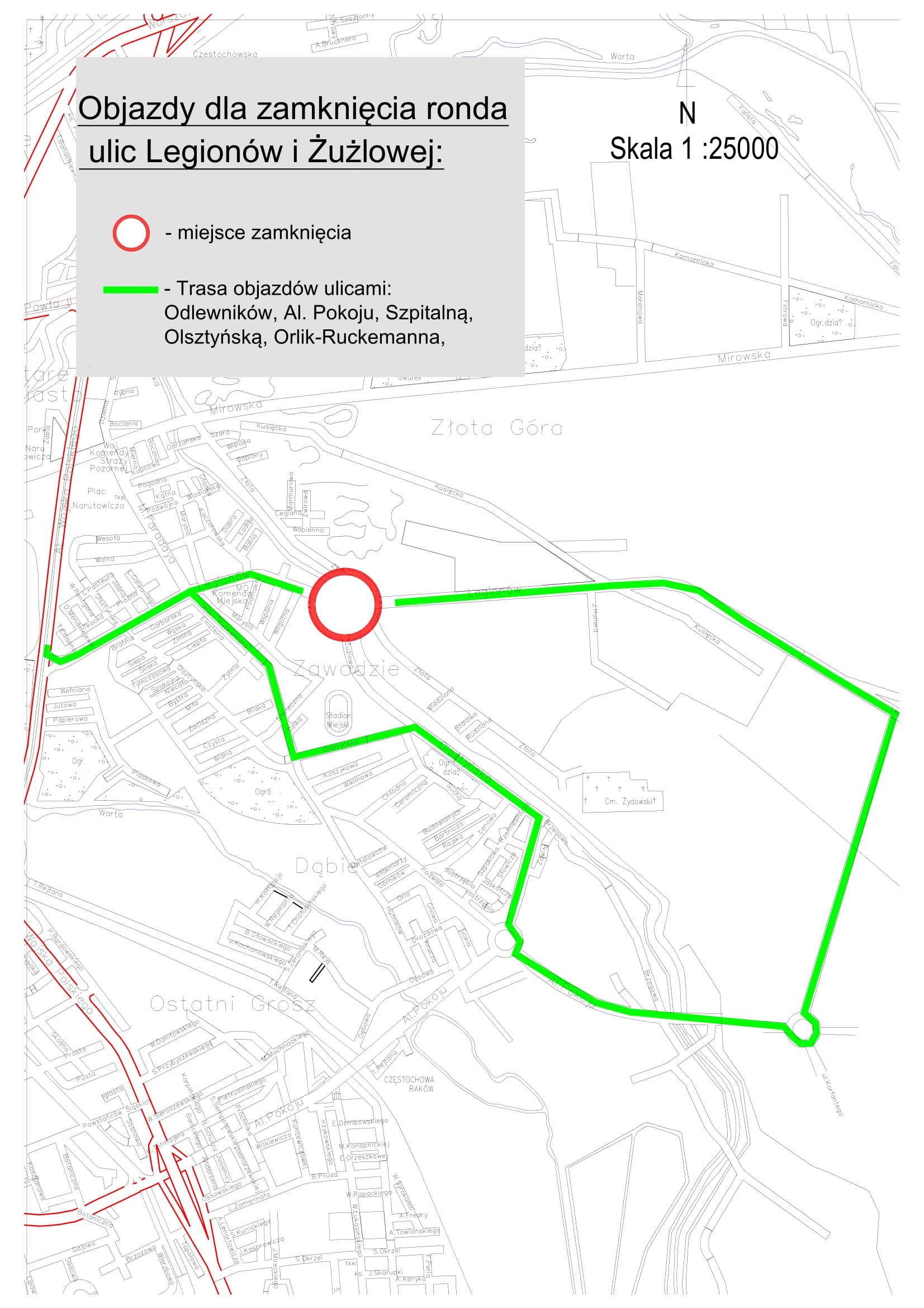 Rondo w dzielnicy Zawodzie ponownie zamknięte