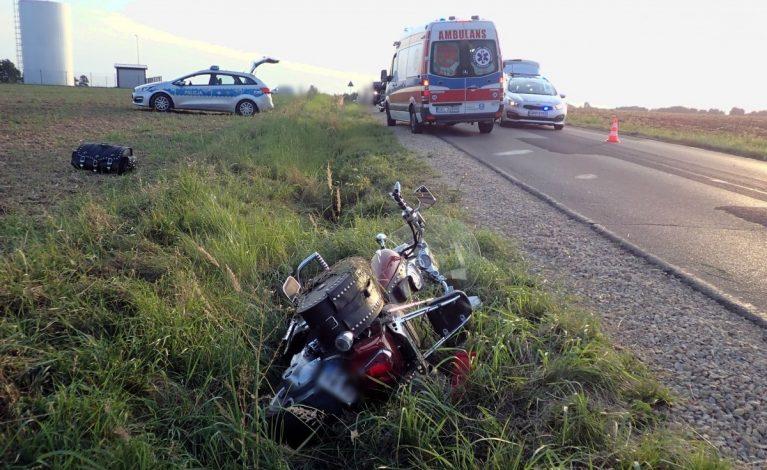 Poważny wypadek z udziałem motocyklistów