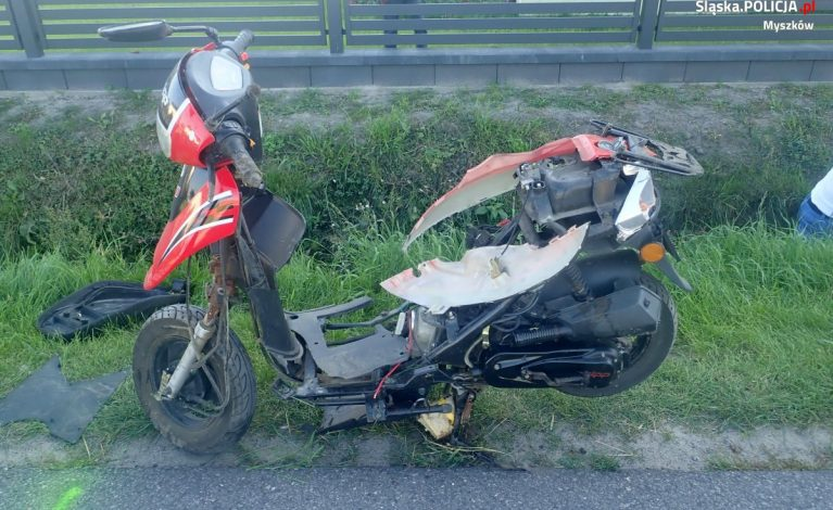 Tragiczny wypadek w Cynkowie. Zginął motorowerzysta
