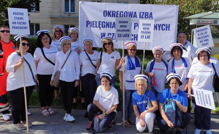 Trwa protest medyków w Warszawie