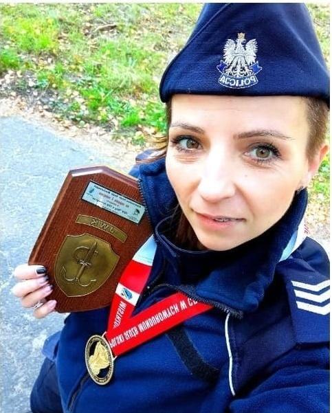 Częstochowska policjantka ze złotym medalem