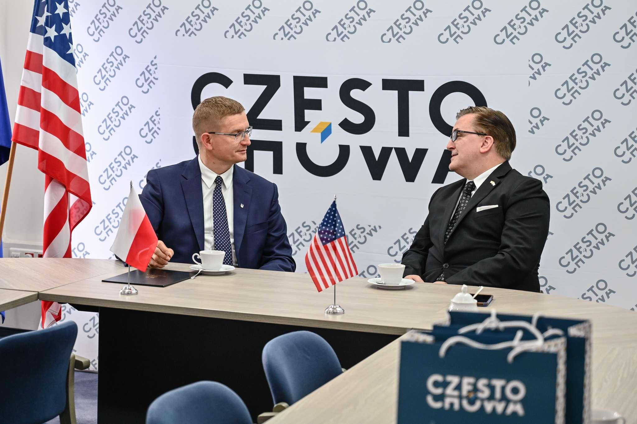 Konsul Generalny USA z wizytą w częstochowskim magistracie